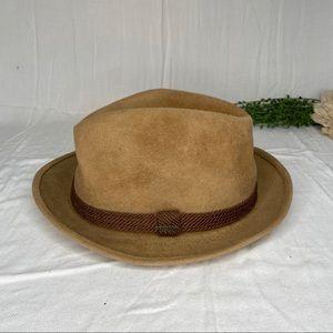 Vintage Stetson Tan Felt Fedora Hat Size 7 1/2